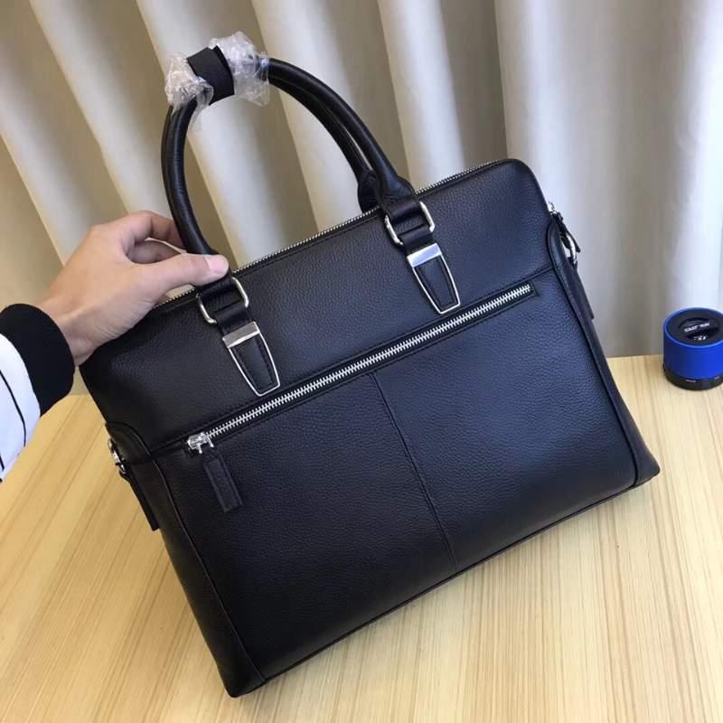 Túi xách nam Prada siêu cấp đen da trơn 2 ngăn