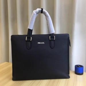 Túi xách nam Prada siêu cấp tím than da trơn 1 ngăn