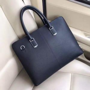 Túi xách nam Prada siêu cấp xanh da trơn