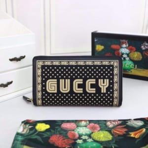 Ví dài Gucci nam siêu cấp vàng đen họa tiết guccy