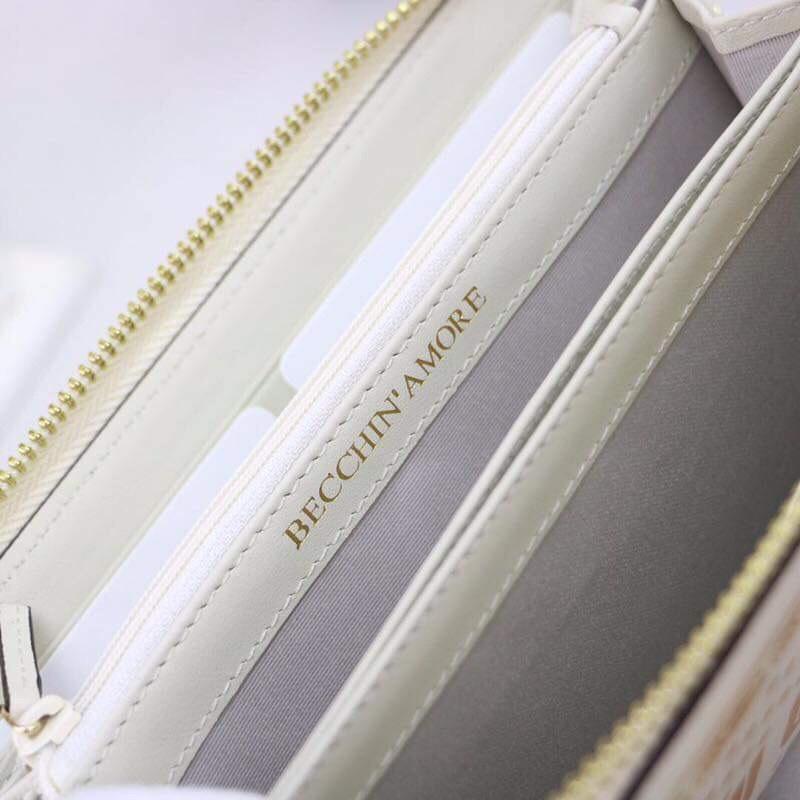 Ví dài Gucci siêu cấp trắng họa tiết guccy