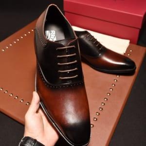 Giày lười Salvatore Ferragamo đế cao màu nâu siêu cấp