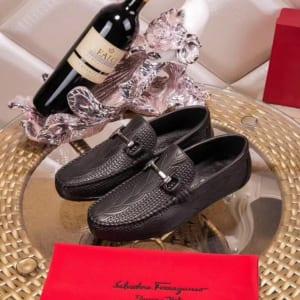 Giày lười Salvatore Ferragamo siêu cấp da sần