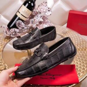 Giày lười Salvatore Ferragamo siêu cấp họa tiết vẩy cá