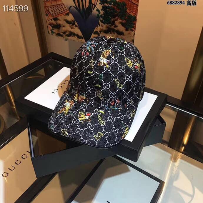 Mũ nam Gucci siêu cấp đen họa tiết hổ