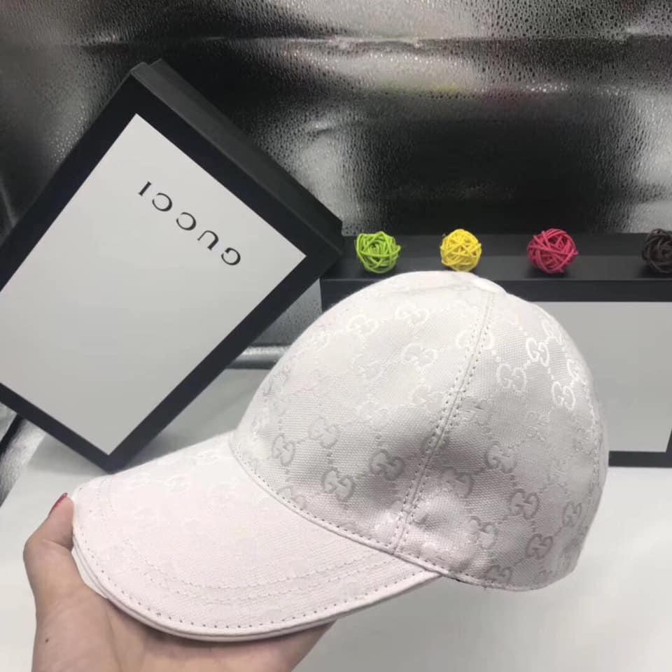 Mũ nam Gucci siêu cấp trắng họa tiết logo