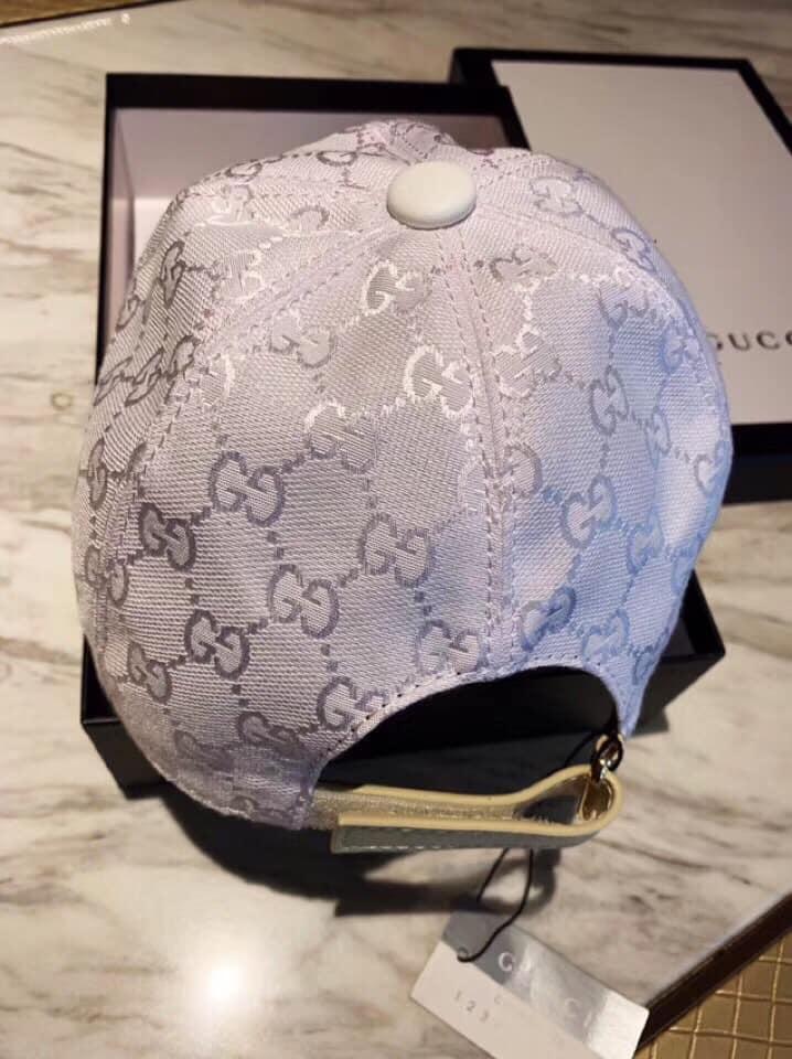 Mũ nam Gucci siêu cấp trắng họa tiết logo NY