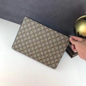 Ví nam Gucci siêu cấp cầm tay họa tiết logo và hổ