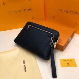 Ví nam Louis Vuitton siêu cấp cầm tay da nhăn khoá số VNLV14