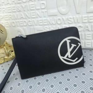 Ví nam Louis Vuitton siêu cấp cầm tay họa tiết logo tròn