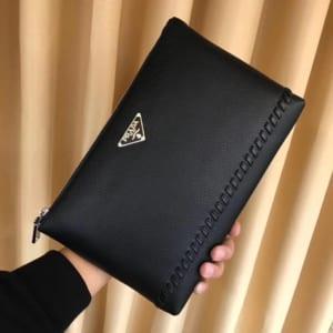 Ví nam Prada siêu cấp cầm tay họa tiết logo