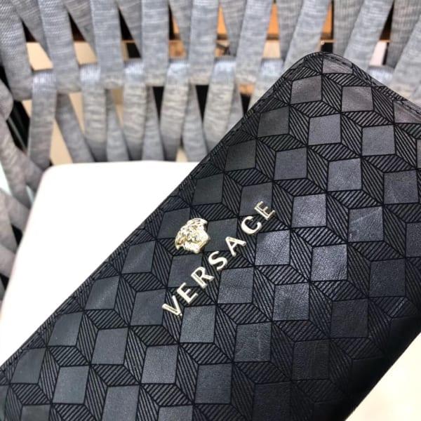 Ví nam Versace siêu cấp cầm tay họa tiết ô vuông