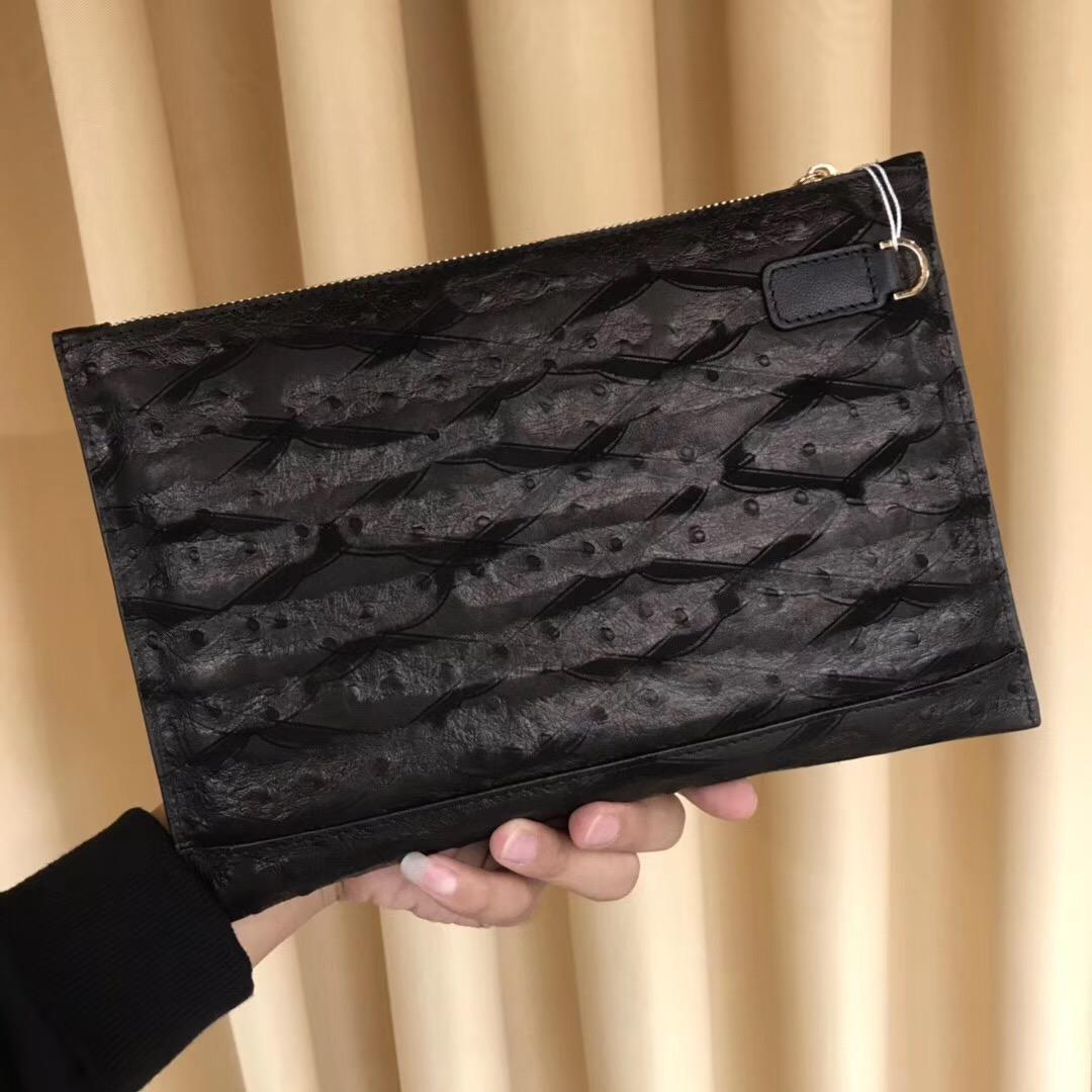 Ví nam Versace siêu cấp cầm tay họa tiết vân gai