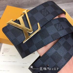 Thắt lưng nam Louis Vuitton Like au mặt vàng TLLV70