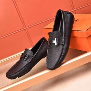 Giày lười Hermes siêu cấp da sần tag chữ H