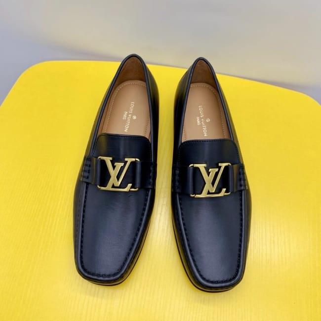 Giày lười Louis Vuitton Like Au đế cao GLLV38