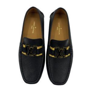 Giày lười Louis Vuitton siêu cấp họa tiết tag vàng GLLV59