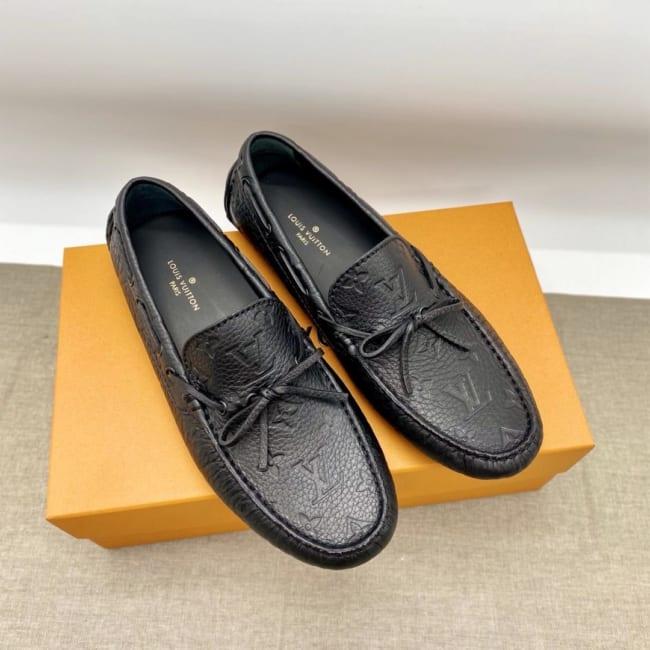 Giày lười Louis Vuitton like au tag nơ GLLV39