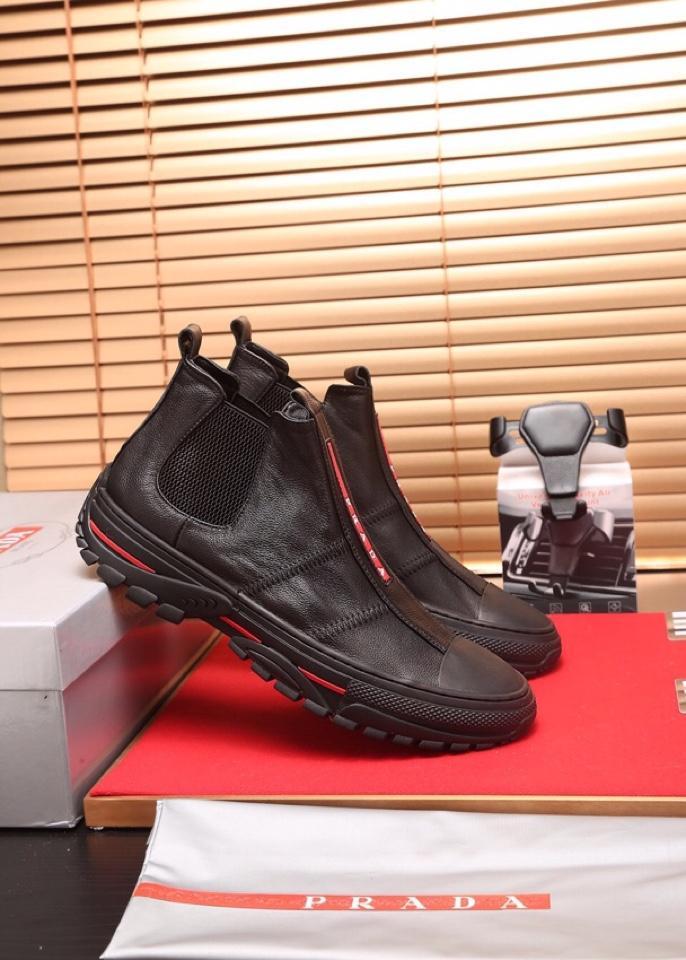 Giày lười Prada siêu cấp họa tiết chữ GLP26