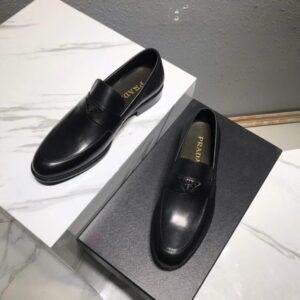 Giày lười Prada siêu cấp họa tiết logo tam giác GLP39