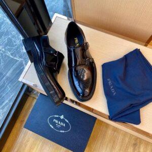 Giày lười Prada like au đế cao khóa lệch GLP33