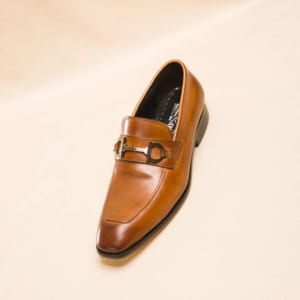 Giày lười Salvatore Ferragamo siêu cấp da bóng màu nâu