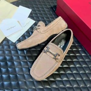 Giày lười Salvatore Ferragamo siêu cấp da lộn