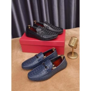 Giày lười Salvatore Ferragamo siêu cấp họa tiết caro