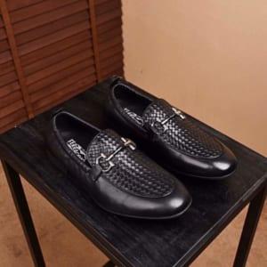 Giày lười Salvatore Ferragamo siêu cấp họa tiết đan chéo