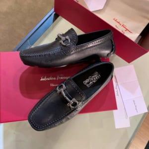 Giày lười Salvatore Ferragamo siêu cấp họa tiết viền đính hạt
