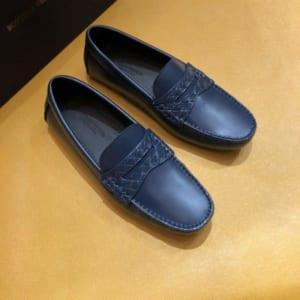 Giày lười Salvatore Ferragamo siêu cấp tag ẩn màu xanh navy