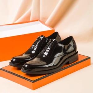 Giày nam Hermes siêu cấp họa tiết da bóng GNHM03