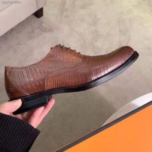 Giày nam Hermes siêu cấp họa tiết da rắn GNHM01