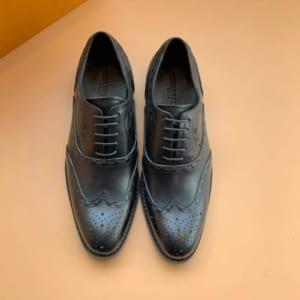 Giày nam Louis Vuitton siêu cấp họa tiết hoa văn màu đen GNLV59