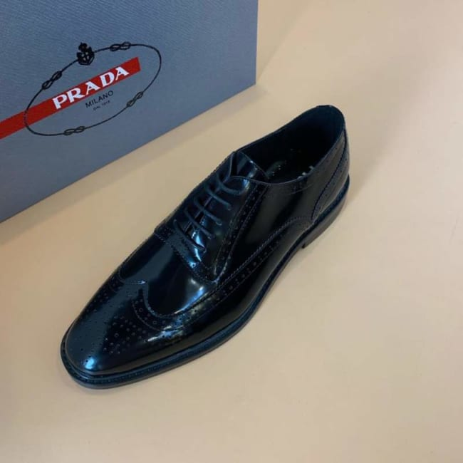 Giày nam Prada siêu cấp công sở cột dây