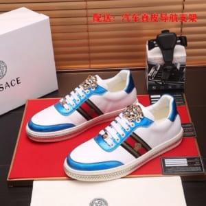 Giày nam Versase siêu cấp họa tiết logo vàng GNV26