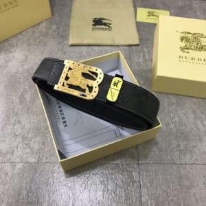Thắt lưng nam Burberry siêu cấp khóa chữ B ngựa vàng