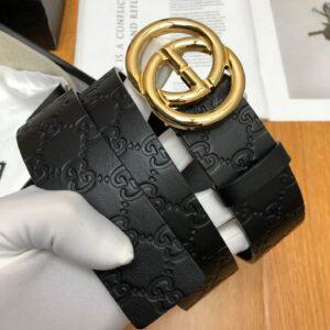 Thắt lưng nam Gucci siêu cấp da dập khóa logo tròn TLGC58