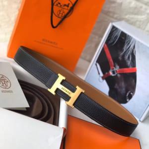 Thắt lưng nam Hermes siêu cấp mặt khóa logo có chữ