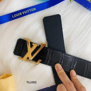 Thắt lưng nam Louis Vuitton da vân cá sấu màu đen TLLV75