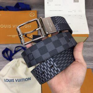 Thắt lưng nam Louis Vuitton like au hoạ tiết caro mới khoá kim TLLV35