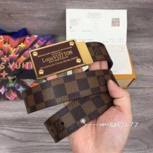 Thắt lưng nam Louis Vuitton like Au logo vàng TLLV67