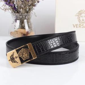 Thắt lưng nam Versace siêu cấp da vân mặt khóa logo chữ nhật