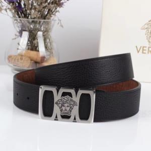 Thắt lưng nam Versace siêu cấp mặt khóa ba ô