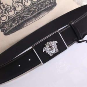 Thắt lưng nam Versace siêu cấp mặt khóa chữ nhật họa tiết logo