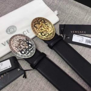 Thắt lưng nam Versace siêu cấp mặt khóa họa tiết hoa