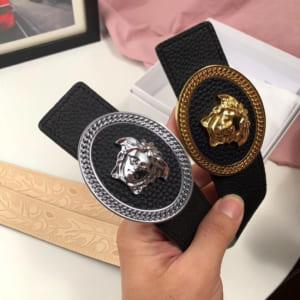 Thắt lưng nam Versace siêu cấp mặt khóa logo elip