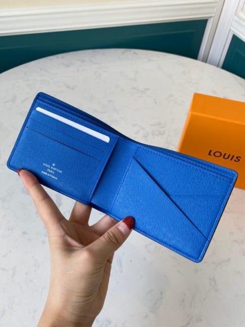 Ví nam Louis Vuitton like au họa tiết caro vuông to VNLV18