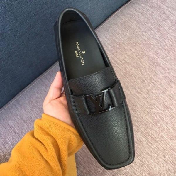 Giày lười Louis Vuitton màu đen bản likeauth 1:1 GLLV21