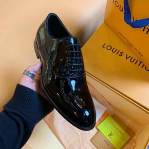 Giày nam Louis Vuitton siêu cấp cột dây da bóng